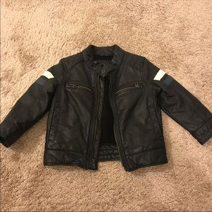GAP black faux leather jacket